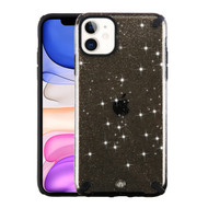Dazzling Fade-Resistant Glitter Transparent Case for iPhone 11 - Black