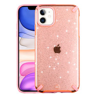 Dazzling Fade-Resistant Glitter Transparent Case for iPhone 11 - Pink
