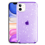Dazzling Fade-Resistant Glitter Transparent Case for iPhone 11 - Purple
