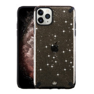 Dazzling Fade-Resistant Glitter Transparent Case for iPhone 11 Pro Max - Black