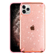 Dazzling Fade-Resistant Glitter Transparent Case for iPhone 11 Pro Max - Pink