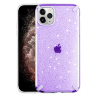 Dazzling Fade-Resistant Glitter Transparent Case for iPhone 11 Pro Max - Purple