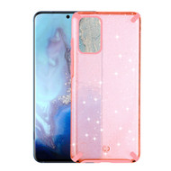 Dazzling Fade-Resistant Glitter Transparent Case for Samsung Galaxy S20 Plus - Pink