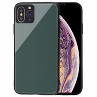 Minimalistic TPU Case with Tempered Glass Backing for iPhone XS Max - Midnight Green