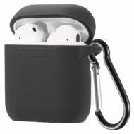 Flexcone Silicone Protective Case with Carabiner Clip for Apple AirPods - Black