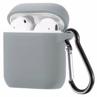 Flexcone Silicone Protective Case with Carabiner Clip for Apple AirPods - Grey