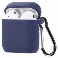 Flexcone Silicone Protective Case with Carabiner Clip for Apple AirPods - Navy Blue