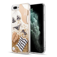 Quicksand Glitter Waterfall Transparent Case for iPhone 8 Plus / 7 Plus / 6S Plus / 6 Plus - Summer Time