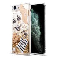 Quicksand Glitter Waterfall Transparent Case for iPhone 8 / 7 / 6S / 6 - Summer Time