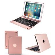 Bluetooth Wireless Keyboard Case for iPad (2018/2017) / iPad Pro 9.7 / iPad Air 2 / iPad Air - Rose Gold