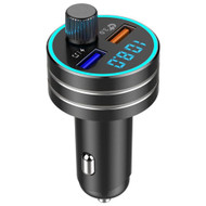 Bluetooth V5.0 Wireless FM Transmitter Hands-Free Car Kit with Quick Charge 3.0 USB Charger