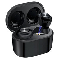 Air Twins TWS True Stereo Bluetooth V5.0 Wireless Headsets with Portable Charging Dock - Black
