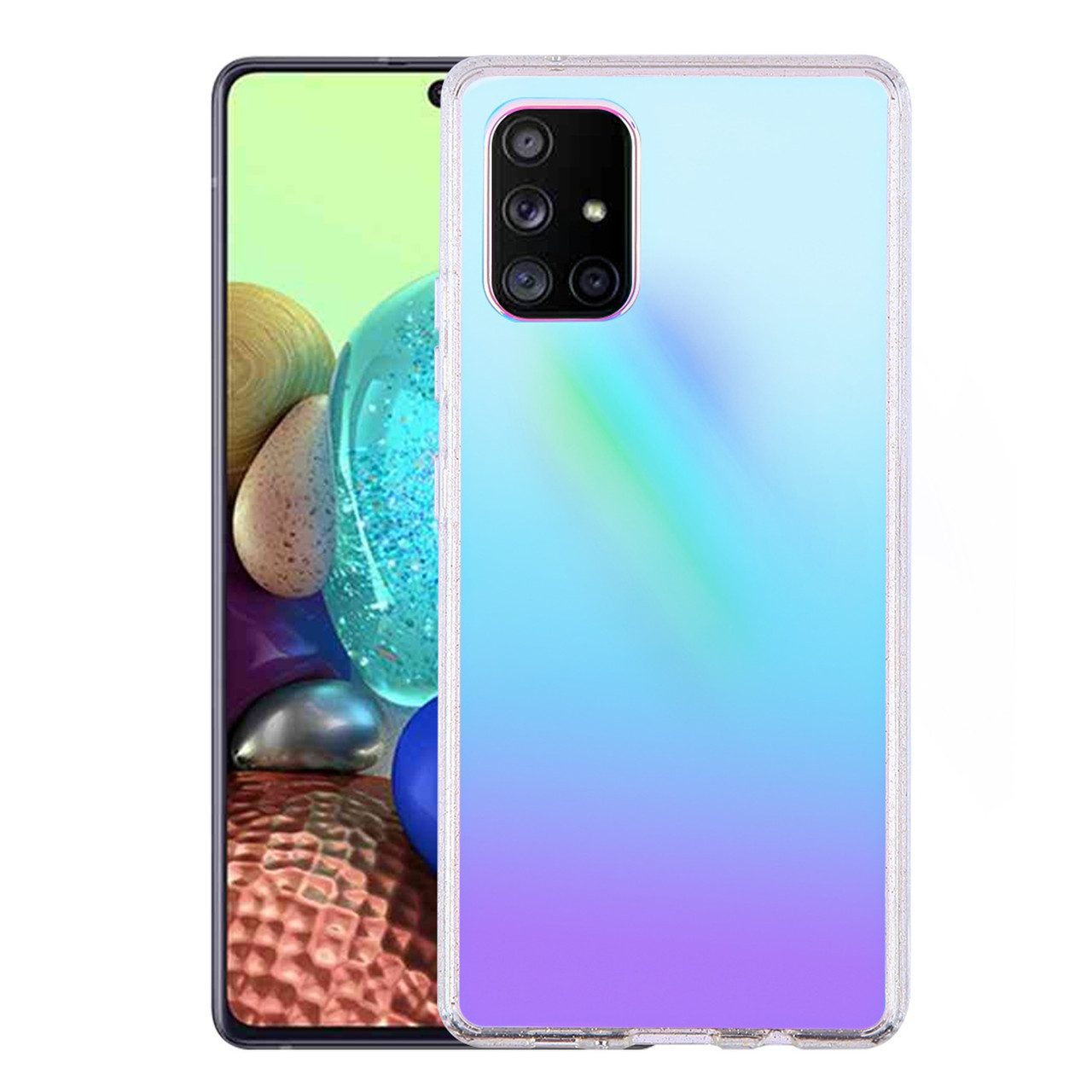 Iridescent Color Holographic Fusion Case For Samsung Galaxy A71 5g Hd Accessory