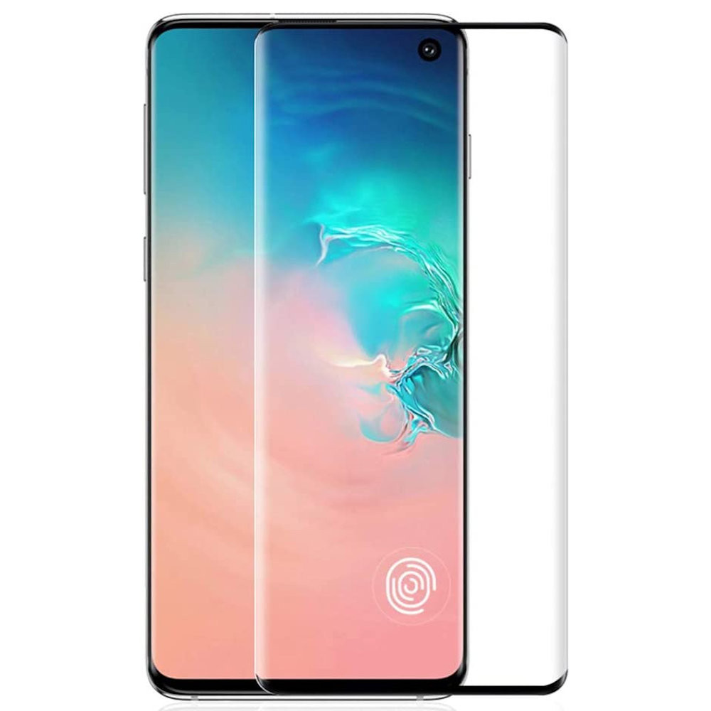 Glass Screen Protector for Samsung Galaxy S10 Plus 9H Tempered Glass,Ultrasonic Fingerprint Compatible,3D Curved Case Friendly Bubble-Free for Galaxy S10 Plus Screen Protector HD Clear