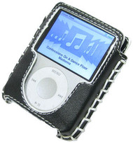 Luxury Series Hand Stitched Leather Case for 3rd Generation iPod Nano (Black)