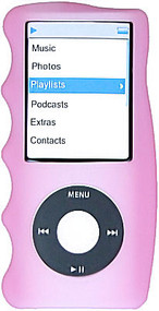 Hand Grip Silicone Sleeve for 4th Generation iPod Nano (Pink)