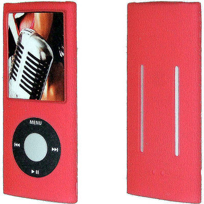 Anti Slip Silicone Skin For 4th Generation Ipod Nano Red