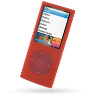 Super Grip Silicone Skin Case for 4th Generation iPod Nano (Red)