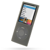 Super Grip Silicone Skin Case for 4th Generation iPod Nano (Smoke)