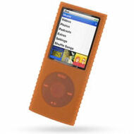 Super Grip Silicone Skin Case for 4th Generation iPod Nano (Orange)