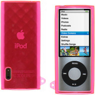 Crystal Rubber Case for 5th Generation iPod Nano 5G - Diamond Pink