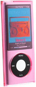 Transparent Acrylic Case for 5th Generation iPod Nano 5G - Pink