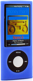 Anti-Slip Silicone Skin for 5th Generation iPod Nano 5G - Blue