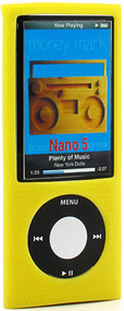 Anti-Slip Silicone Skin for 5th Generation iPod Nano 5G - Yellow