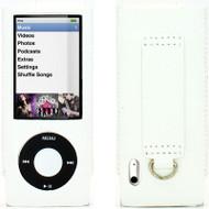Slim Leather Case for 5th Generation iPod Nano 5G - White