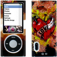 Snap-On Graphic Hard Case for 5th Generation iPod Nano 5G - Love Tattoo