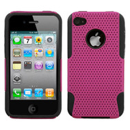 *Sale* Astronoot Multi-Layer Hybrid Case and Screen Protector for iPhone 4 / 4S - Hot Pink