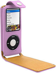 Leather Folio Case for 4th Generation iPod Nano 4G (Pink)