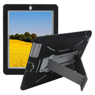 Impact Armor Kickstand Hybrid Case and Screen Protector for iPad (2nd, 3rd and 4th Generation) - Black Grey