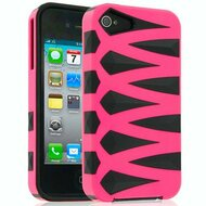 Crossover Hybrid Case for iPhone 4 / 4S - Pink