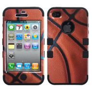 Military Grade Certified TUFF Image Hybrid Case and Screen Protector for iPhone 4 / 4S - Basketball