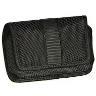 Racing Rubber Ballistic Nylon Horizontal Case for iPhone 4 / 4S - Black