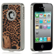 Exotic Diamond Chrome Case for iPhone 4 / 4S - Leopard