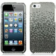*CLEARANCE* Diamante Rhinestone Case and Screen Protector for iPhone SE / 5S / 5 - Gradient Black