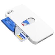 Card Wallet Shell Case for iPhone 5 / 5S - White