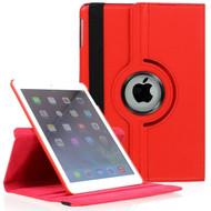 360 Rotating Leather Hybrid Smart Case for iPad Mini - Red