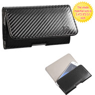 *SALE* Leather Folio Hip Case - Carbon Fiber