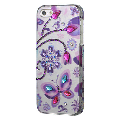 Clearance Graphic Rhinestone Case And Screen Protector