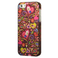 Graphic Rhinestone Case and Screen Protector for iPhone SE / 5S / 5 - Secret Garden