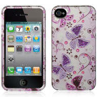 *CLEARANCE* Graphic Rhinestone Case and Screen Protector for iPhone 4 / 4S - Lady Butterfly