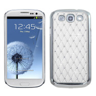 *Sale* Luxurious Chrome Spot Diamond Case for Samsung Galaxy S3 - White