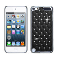 Luxurious Chrome Spot Diamond Case for iPod Touch (5th, 6th and 7th Generation) - Black