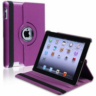 *SALE* Smart Rotary Leather Case for iPad 2, iPad 3 and iPad 4th Generation - Purple