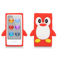 Penguin Silicone Cover for iPod Nano 7th Generation - Red