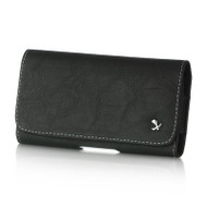 Leather Folio Hip Case - Black