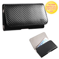 *SALE* Leather Folio Hip Case - Carbon Fiber 00229